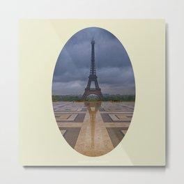 Jardins du Trocadero Metal Print