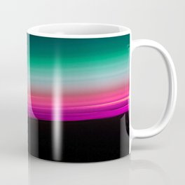 Teal Green Pink Fuchsia Ombre Gradient Coffee Mug