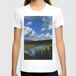 Meadow With Yellowstone River T-shirt