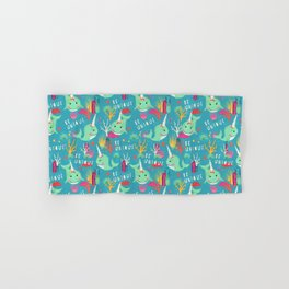 Narwhal Be Unique Pattern Hand & Bath Towel