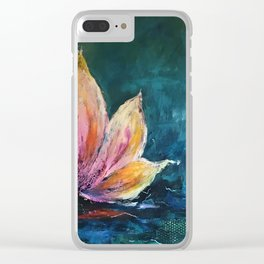 The Lotus House of Love, Peace & Migration Clear iPhone Case