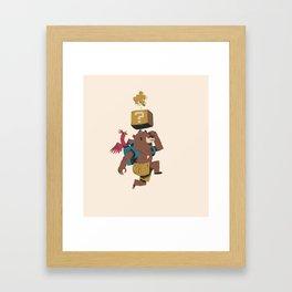banjo block Framed Art Print