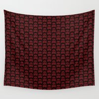 burgundy Wall Tapestries featuring  Burgundy Stormtroopers by foreverwars