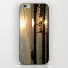 Lake Champlain Ferry to Burlington Vermont at Sunset iPhone Skin