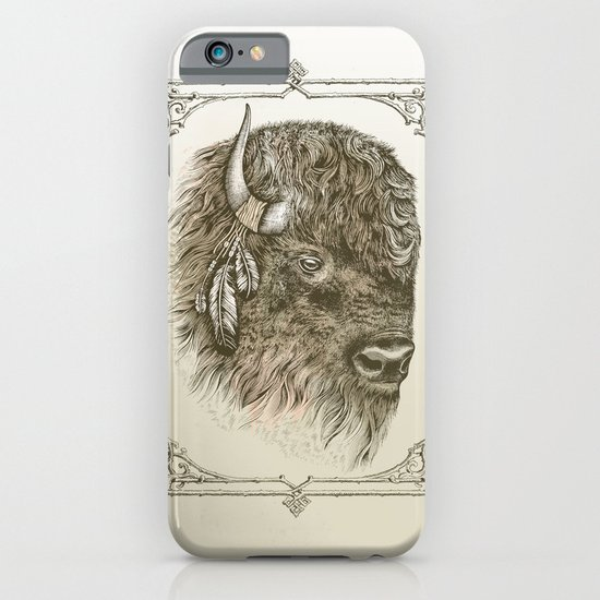 Portrait of a Buffalo iPhone & iPod Case