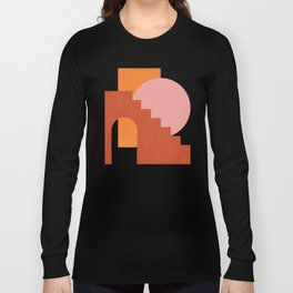 Abstraction_SHAPES_COLOR_Minimalism_003 Long Sleeve T-shirt