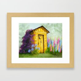 Out in Spring Framed Art Print