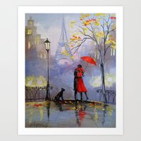 romantic Art Prints featuring Romantic by OLHADARCHUK