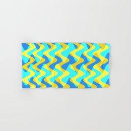 Crosswave Yellow - Electron Series 001 Hand & Bath Towel