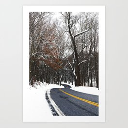 Snow Road 1 Art Print
