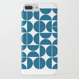 Mid Century Modern Geometric 04 Blue iPhone Case