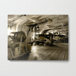 HMS WARRIOR Gun Deck Metal Print