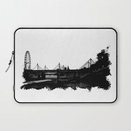 Thames skyline in black and white, London, UK Laptop Sleeve