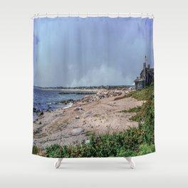 Watch Hill Beach Shower Curtain