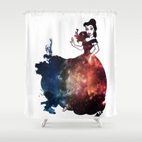 belle Shower Curtains featuring Belle by kaelynnmara