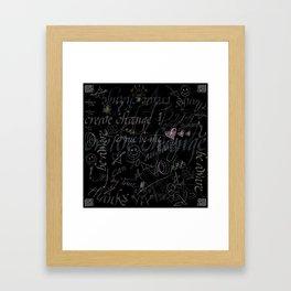 On the blackboard Framed Art Print
