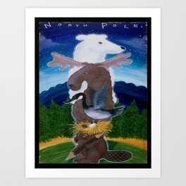 North Pole! Art Print