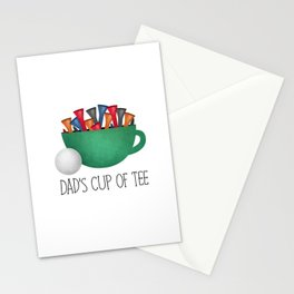 Dad's Cup Of Tee Stationery Cards