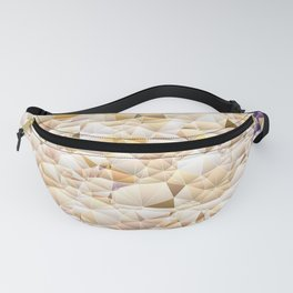 Neutral Tone Quilted Pattern Design Fanny Pack