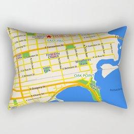 Map of Pensacola, FL - East Hill Christian School Rectangular Pillow