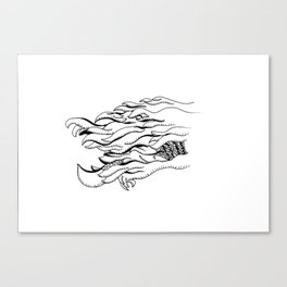 Over the Edge: Fur Canvas Print