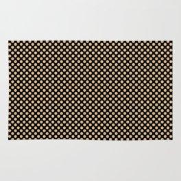 Black and Desert Dust Polka Dots Rug