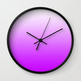 White and Magenta Gradient 041 Wall Clock