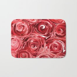 Ruby Red Roses Bath Mat