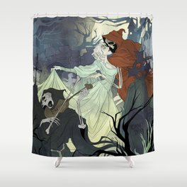 The Dance Macabre Shower Curtain