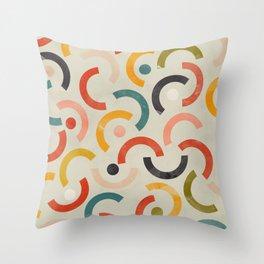 mid century geometric abstract Throw Pillow