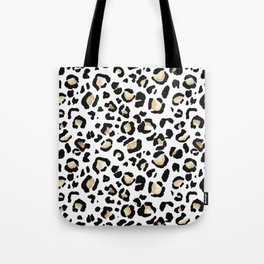 Leopard Animal Print Watercolour Painting Tote Bag
