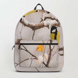 Lovely Songbirds on a Snowy Branch #decor #buyart #society6 Backpack