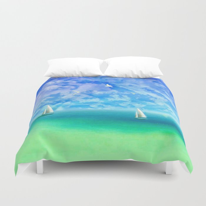 Beautiful Day For Sailing Duvet Cover