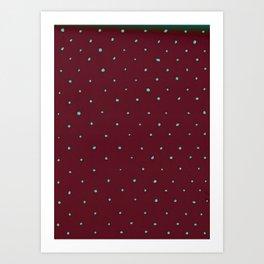 Polka -Doodle- Dots Art Print