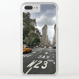 Flat Iron on 5th Clear iPhone Case