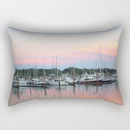 Boats In The Marina Rectangular Pillow