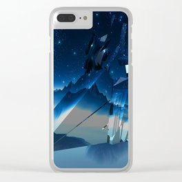 Blue Stars Clear iPhone Case
