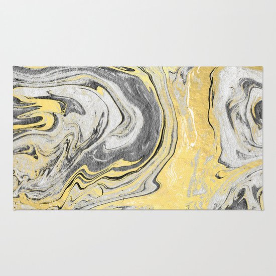 Reiko Gold Grey Black And White Minimal Marble Abstract