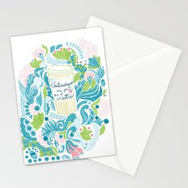 Saturdays are for the Lattes Stationery Cards