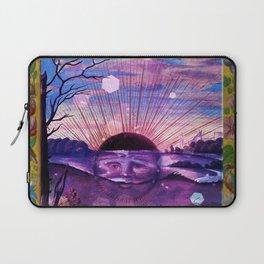Black Sun Alchemy, Antique Alchemy Illustration Collage Laptop Sleeve