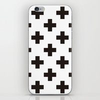 positive iPhone & iPod Skins featuring Positive by Small Comforts