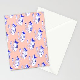 Neon cat in peach Stationery Cards