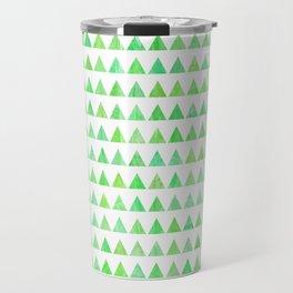 evergreen geometric pattern Travel Mug