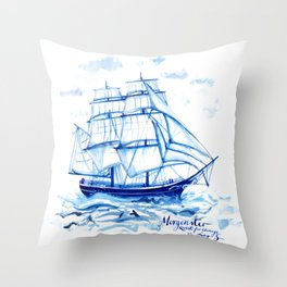Set the sails! All aboard the Morgenster Throw Pillow