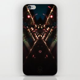 Gare Bruxelles-Luxembourg Station Brussel-Luxemburg symmetry rorschach caleidoscope iPhone Skin