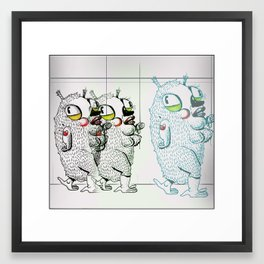 Puffies Framed Art Print