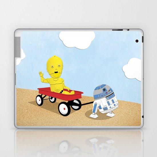SW Kids - C3PO & R2D2 Red Wagon Laptop & iPad Skin