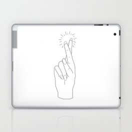 Fingers Crossed Laptop & iPad Skin