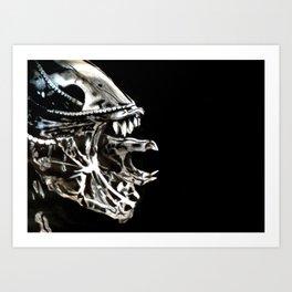 Alien in Chalk Art Print