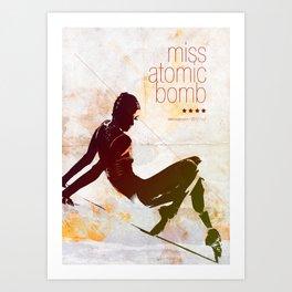 Miss Atomic Bomb. V2 Art Print